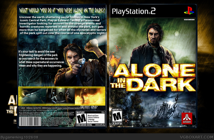 Alone In The Dark Playstation 2 Box Art Cover By Gamerking