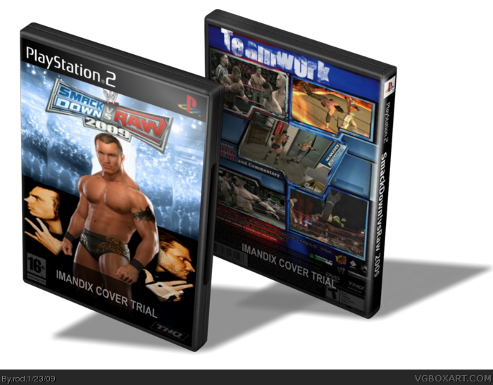 WWE SmackDown vs. RAW 2009 box art cover