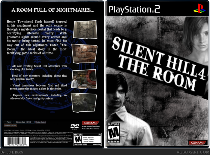 Silent Hill 4 The Room Playstation 2 Box Art Cover By Rod
