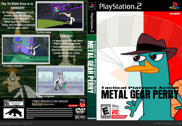 Metal Gear Perry box art cover