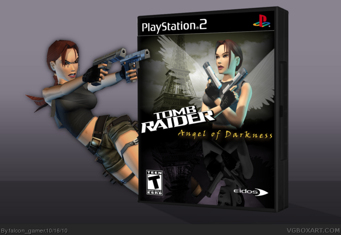 Tomb Raider The Angel Of Darkness Playstation 2 Box Art Cover By