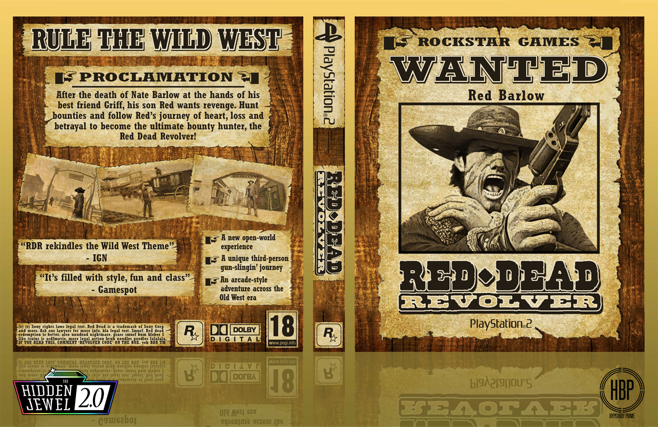 Red Dead Revolver box cover