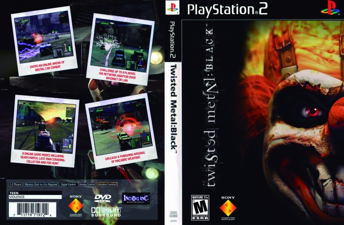 twisted metal black playstation 2 box art cover by sansstucky