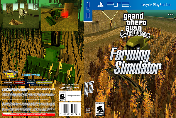 GTA San Andreas Farming Simulator box cover