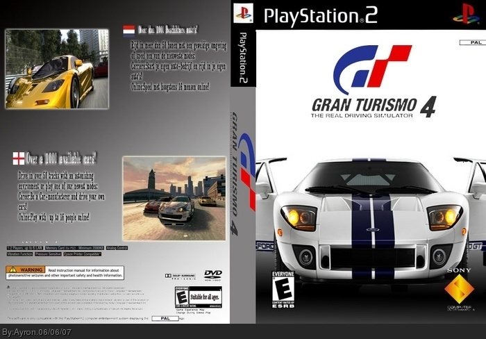 gran turismo 4 playstation 2 box art cover by ayron. Black Bedroom Furniture Sets. Home Design Ideas