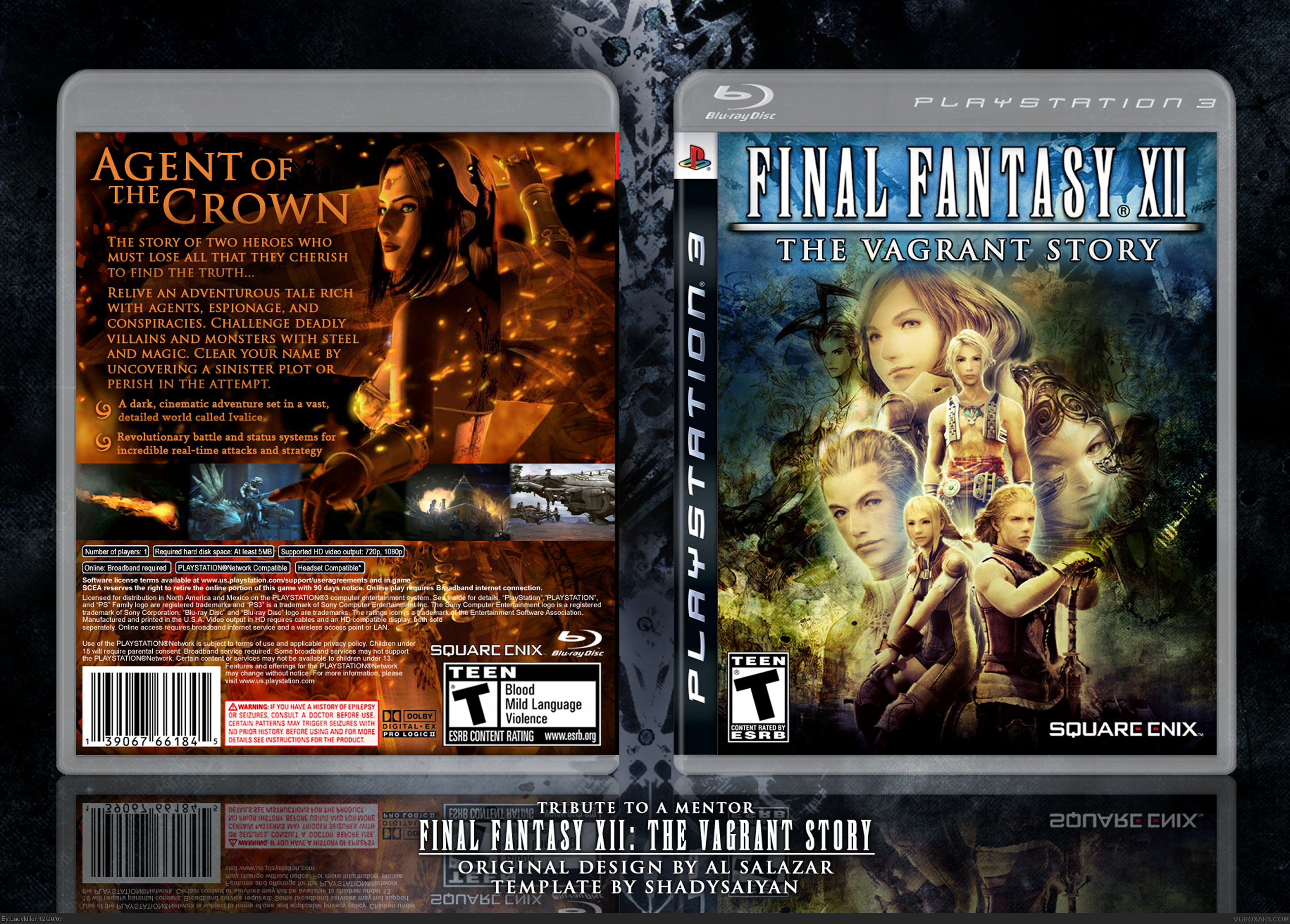 Final Fantasy XII: The Vagrant Story box cover