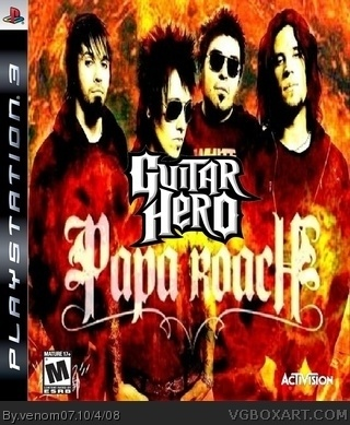 Guitar Hero:Papa Roach box art cover