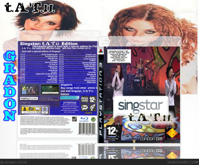 Singstar: t.A.T.u. box art cover