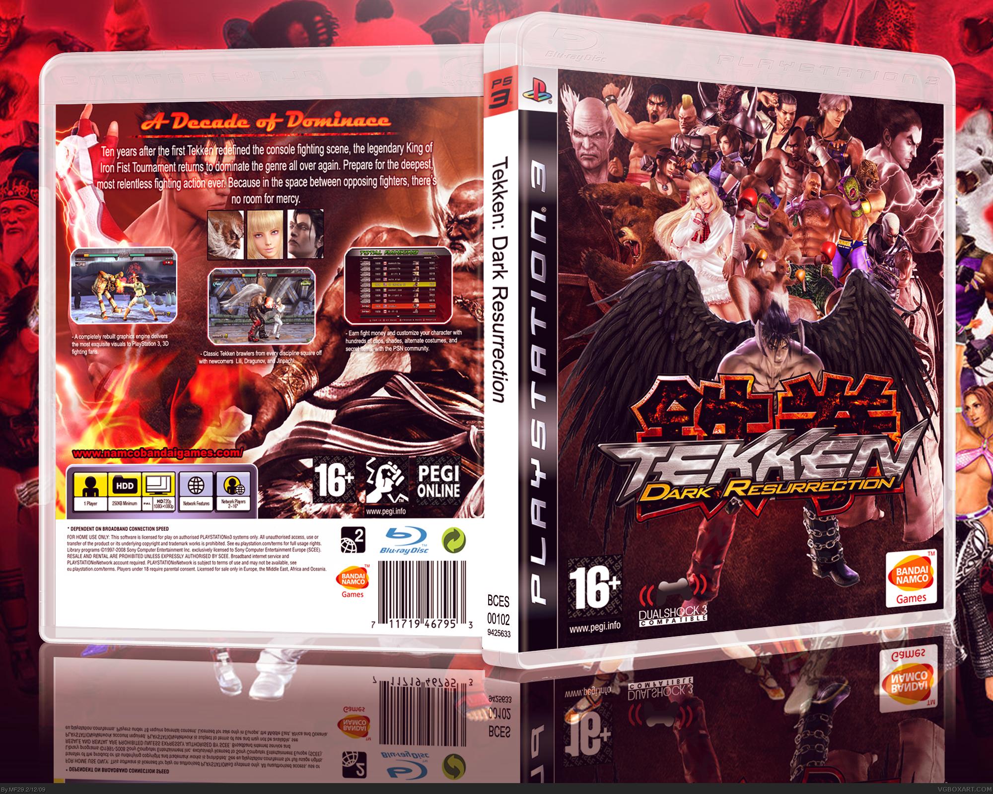 Tekken 5 Dark Resurrection Playstation 3 Box Art Cover By Mf29