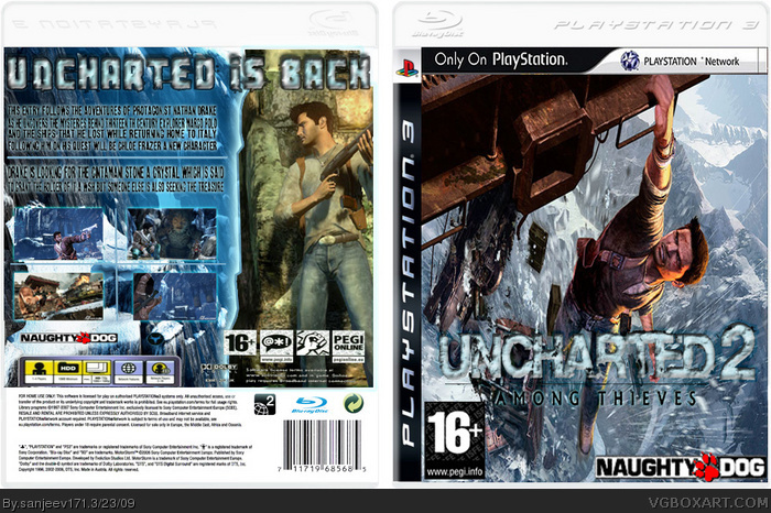 Uncharted 2 Among Thieves Playstation 3 Box Art Cover By Sanjeev171