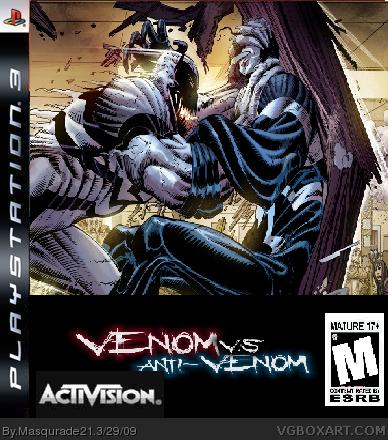 anti venom v s venom playstation 3 box art cover by masqurade21