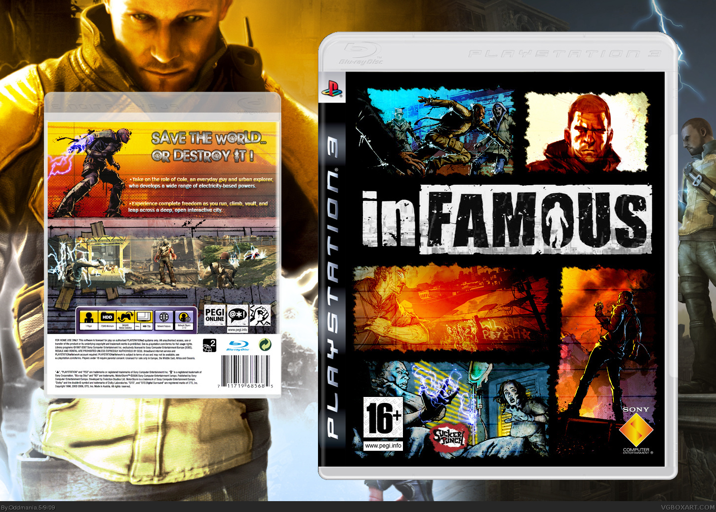 inFAMOUS box cover