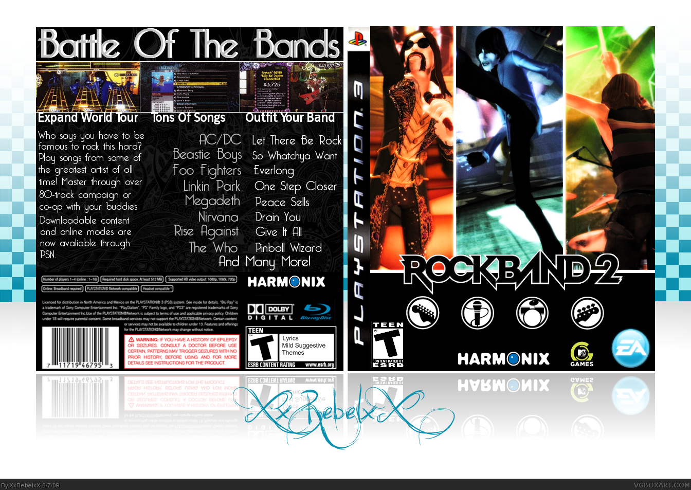 Rock Band 2 box cover