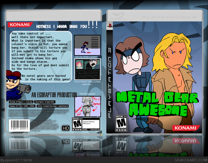 Metal Gear Awesome box art cover