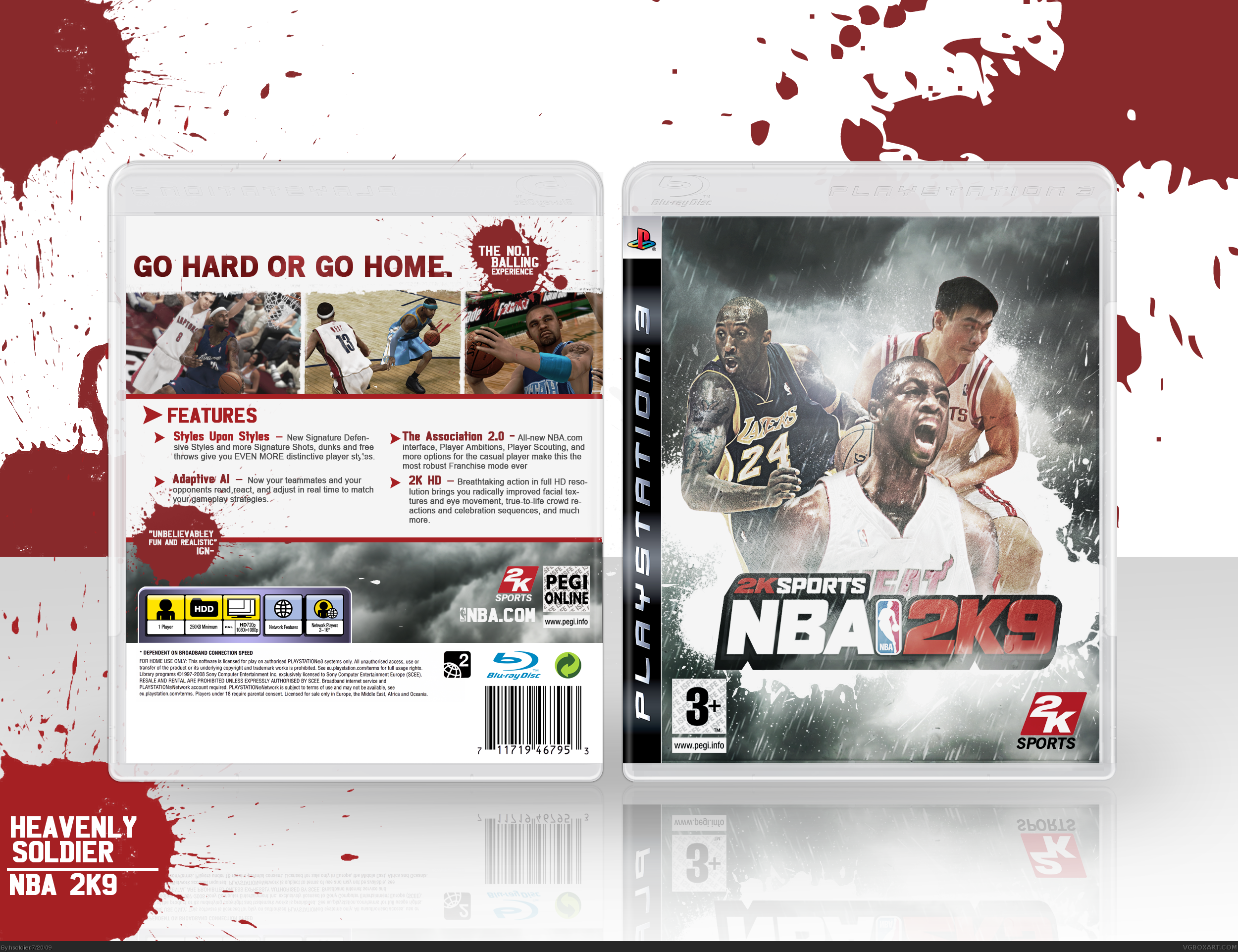 NBA 2K9 box cover
