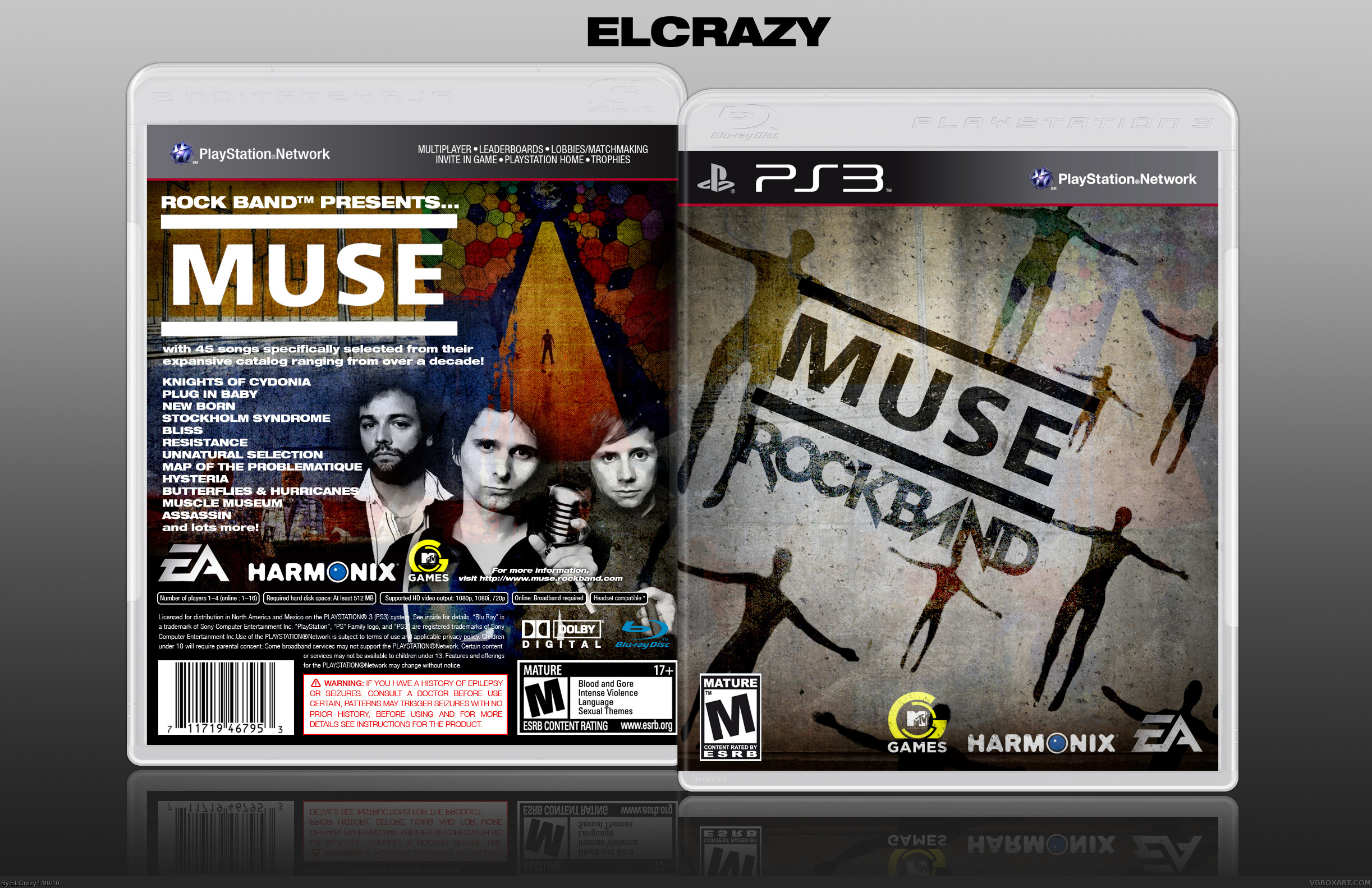 MUSE: Rock Band box cover