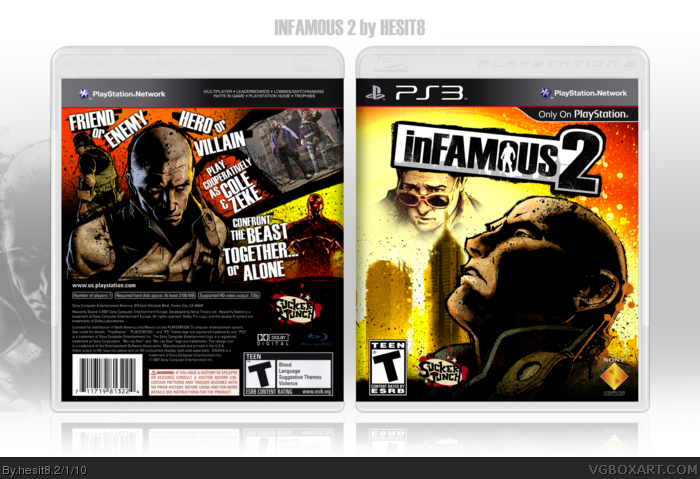 inFAMOUS 2 box art cover