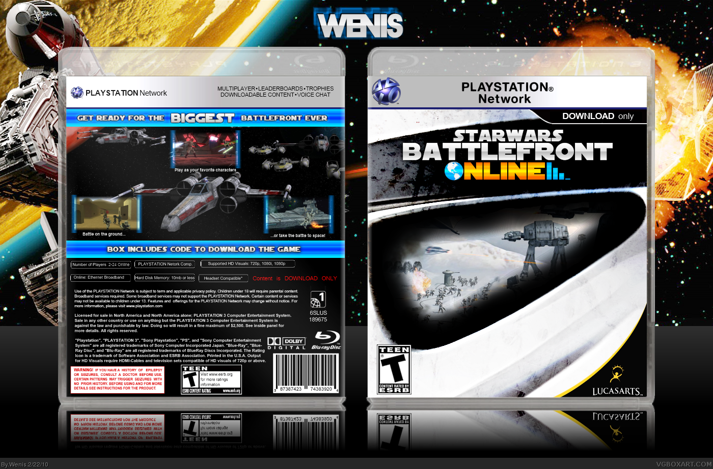 Star Wars Battlefront: Online box cover