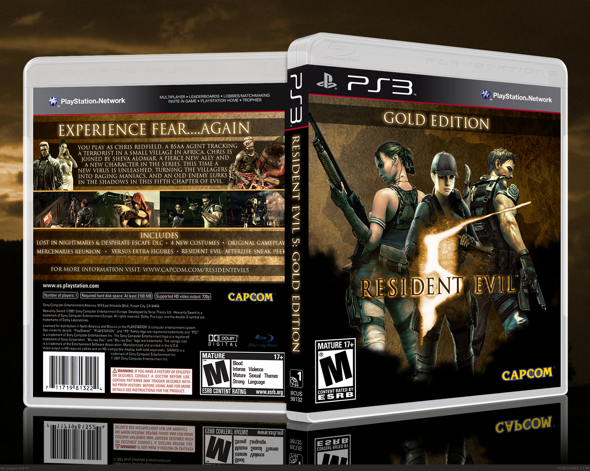 Resident Evil 5 Gold Edition box cover