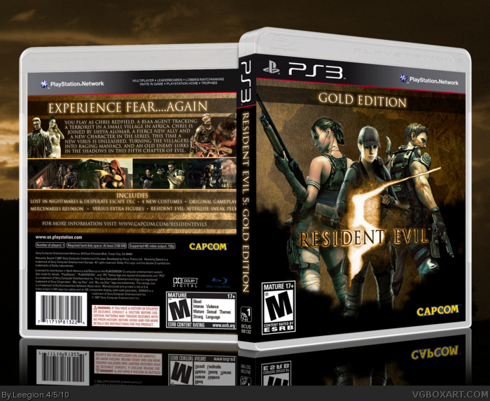 Resident Evil 5 Gold Edition box art cover
