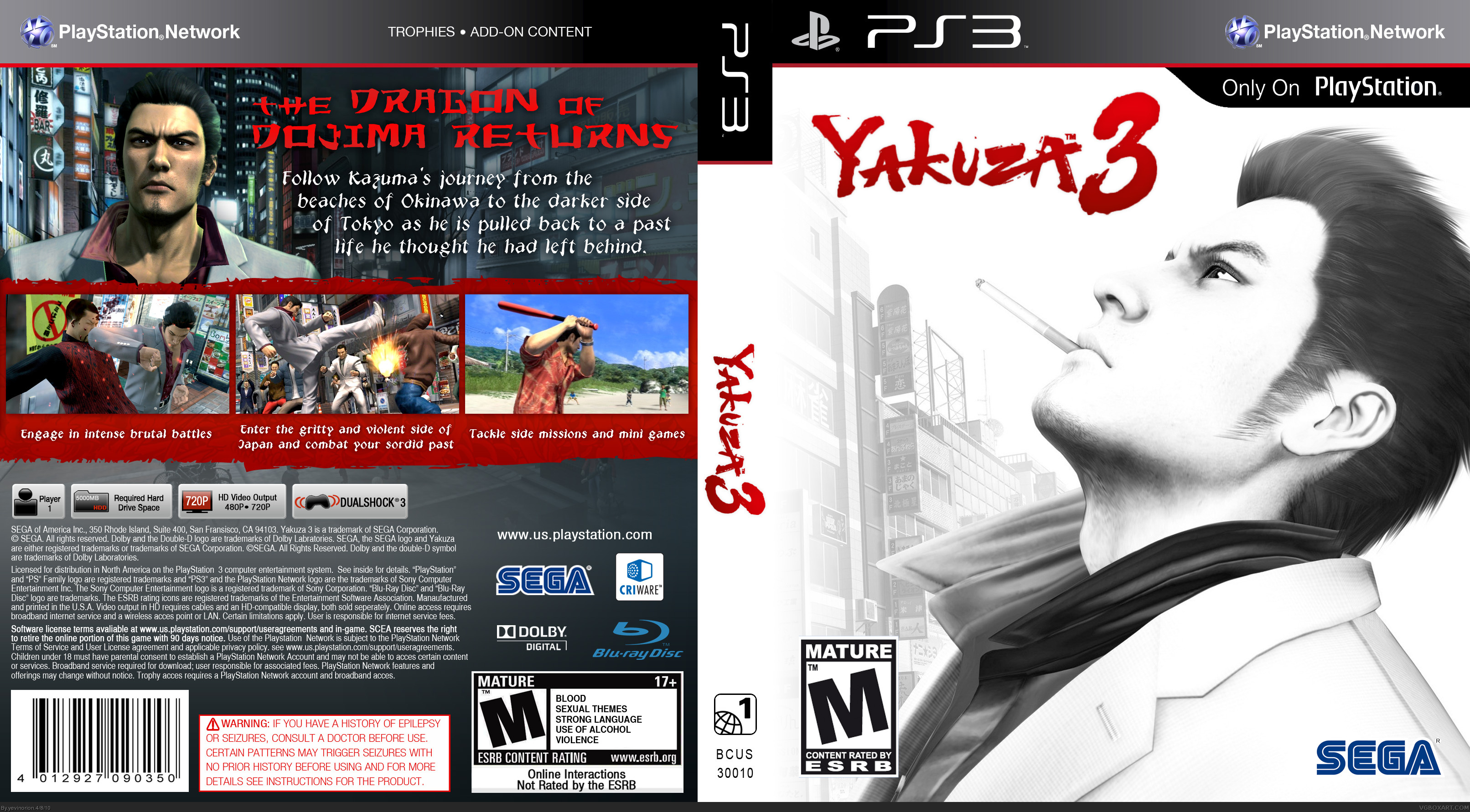 Comments Yakuza 3 Box Cover Comments