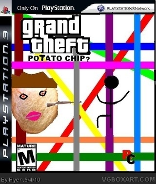 Grand Theft Potato Chip box cover