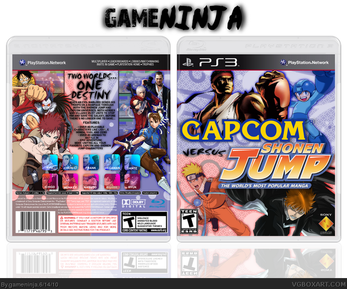 Capcom VS Shonen Jump box art cover