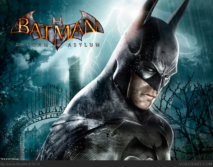 Batman Arkham Asylum 2 box art cover