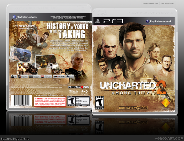 Uncharted 2 Among Thieves Playstation 3 Box Art Cover By Gunslinger