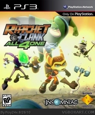 Ratchet and Clank: All 4 One box cover