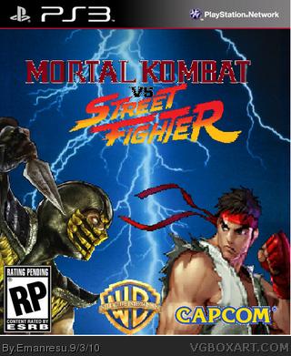 Mortal Kombat Vs Street Fighter Playstation 3 Box Art Cover By