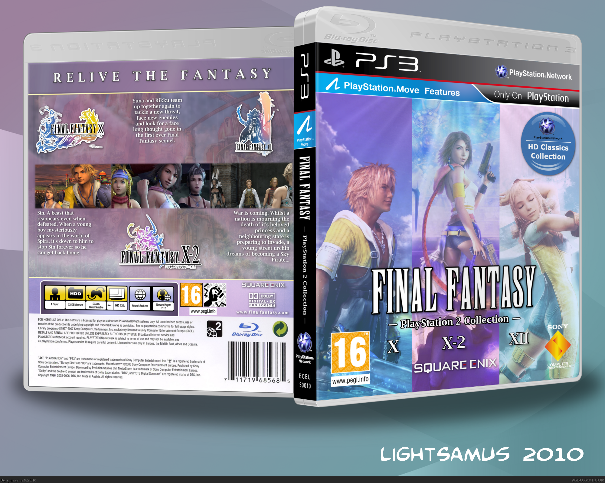 Final Fantasy - PlayStation 2 Collection box cover