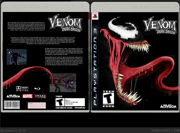 Venom Dark Origin box art cover
