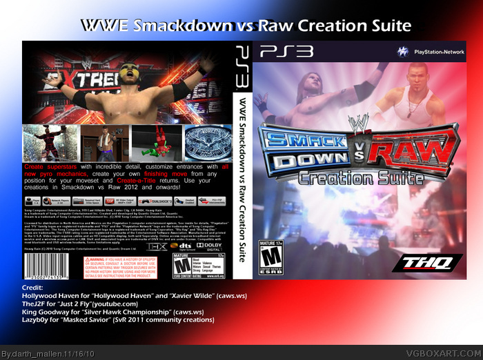 WWE Smackdown vs Raw Creation Suite box art cover