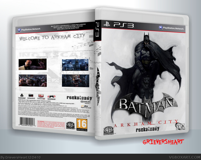 BATMAN : ARKHAM CITY (PS3) box art cover