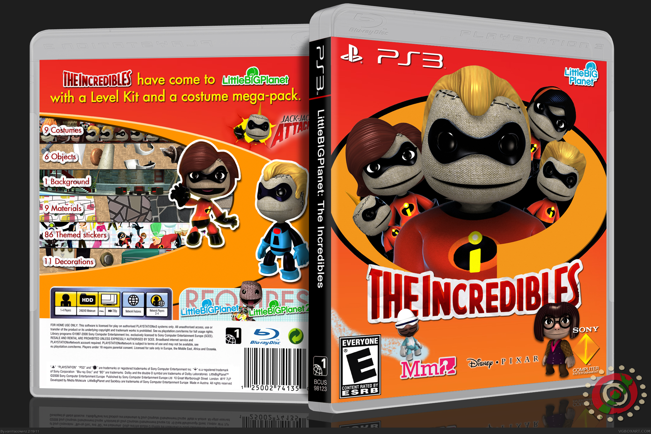 LittleBIGPlanet: The Incredibles box cover
