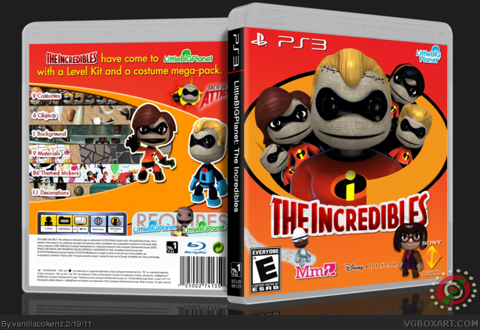 LittleBIGPlanet: The Incredibles box art cover