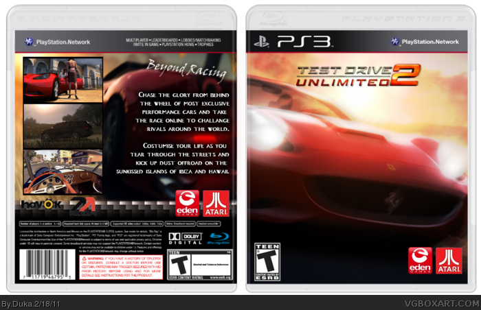 Test Drive Unlimited 2 box art cover