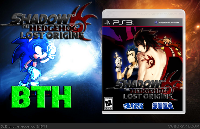 Shadow The Hedgehog Anime box art cover