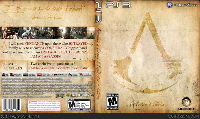 Assassin's Creed 2 Collector's Edition box art cover