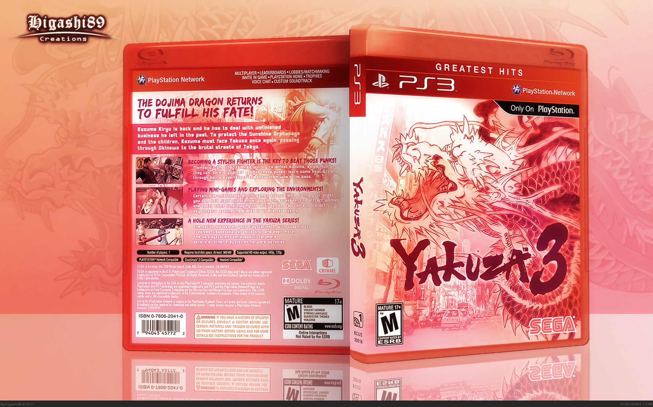Yakuza 3 box cover