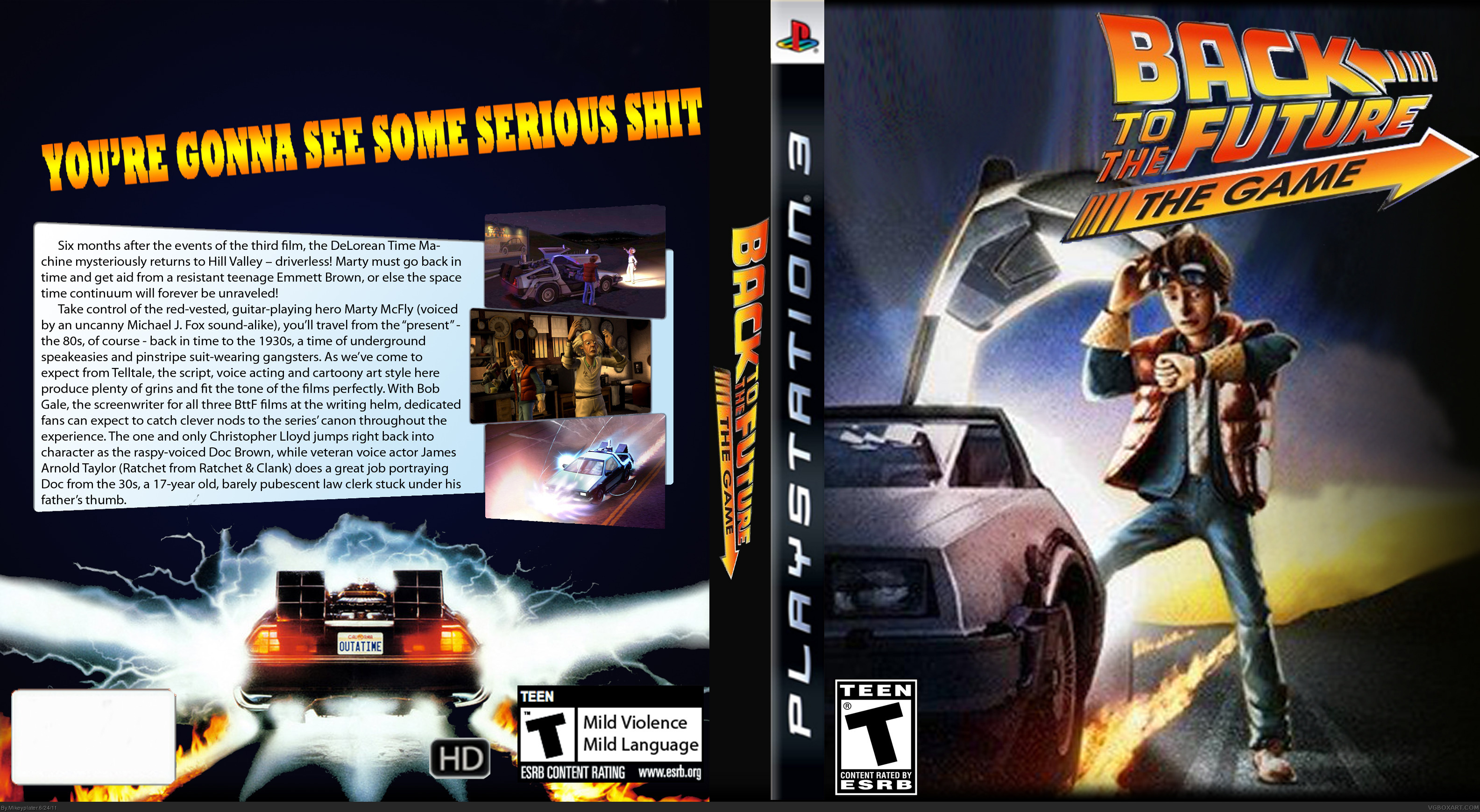 Back To The Future: The Video Game box cover
