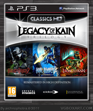Legacy Of Kain Trilogy (Classics HD) box art cover
