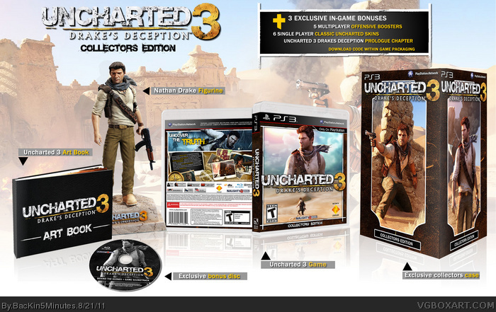 Uncharted 3: Drake's Deception Collectors Edition box art cover