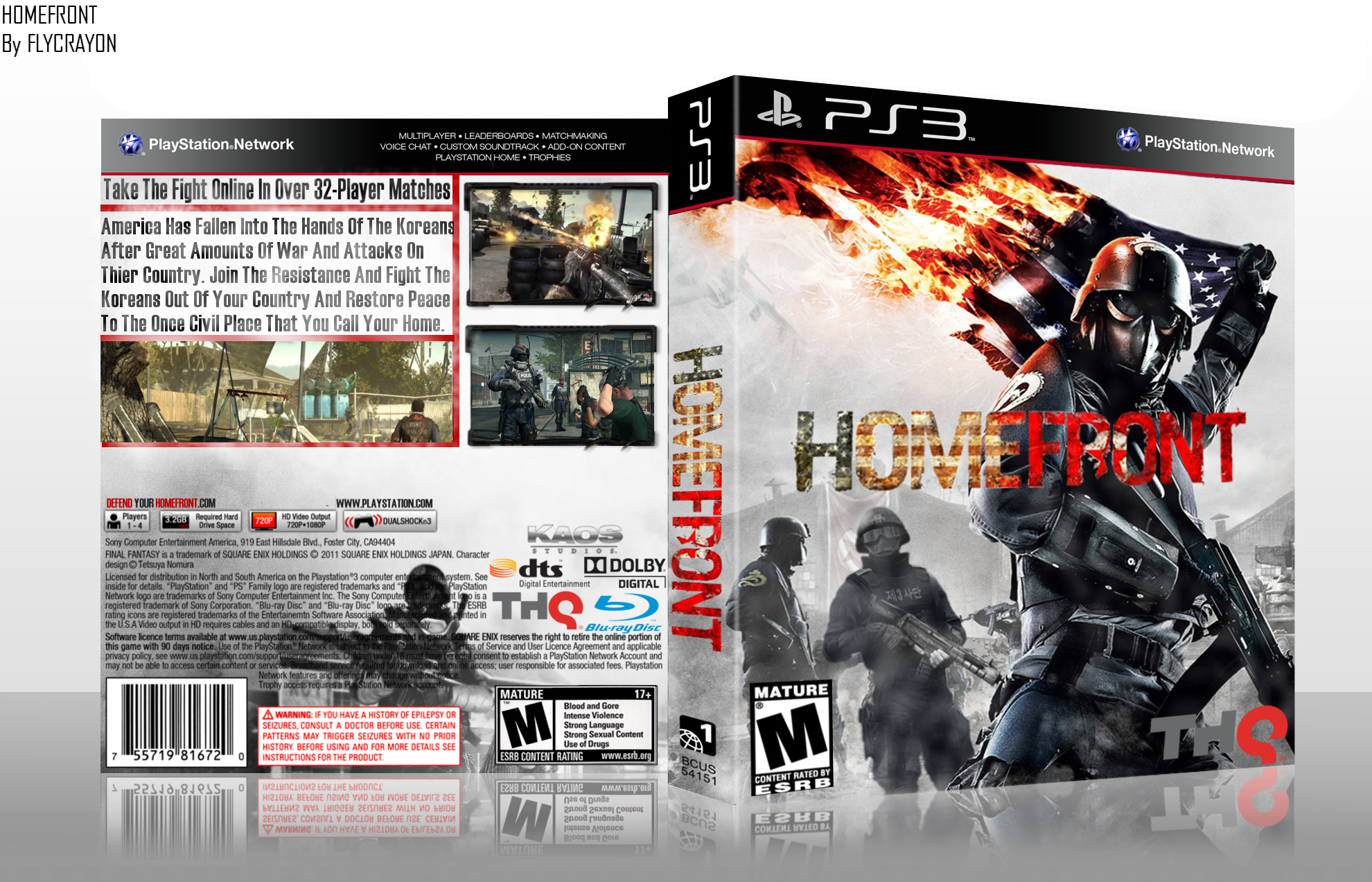 Homefront box cover