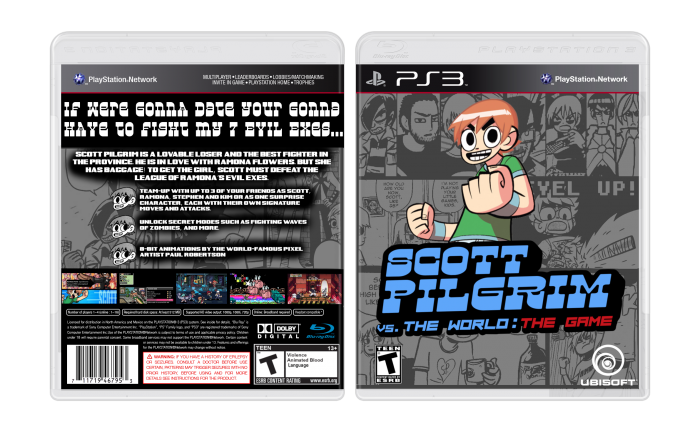 Scott Pilgrim Vs. The World: The Game box art cover
