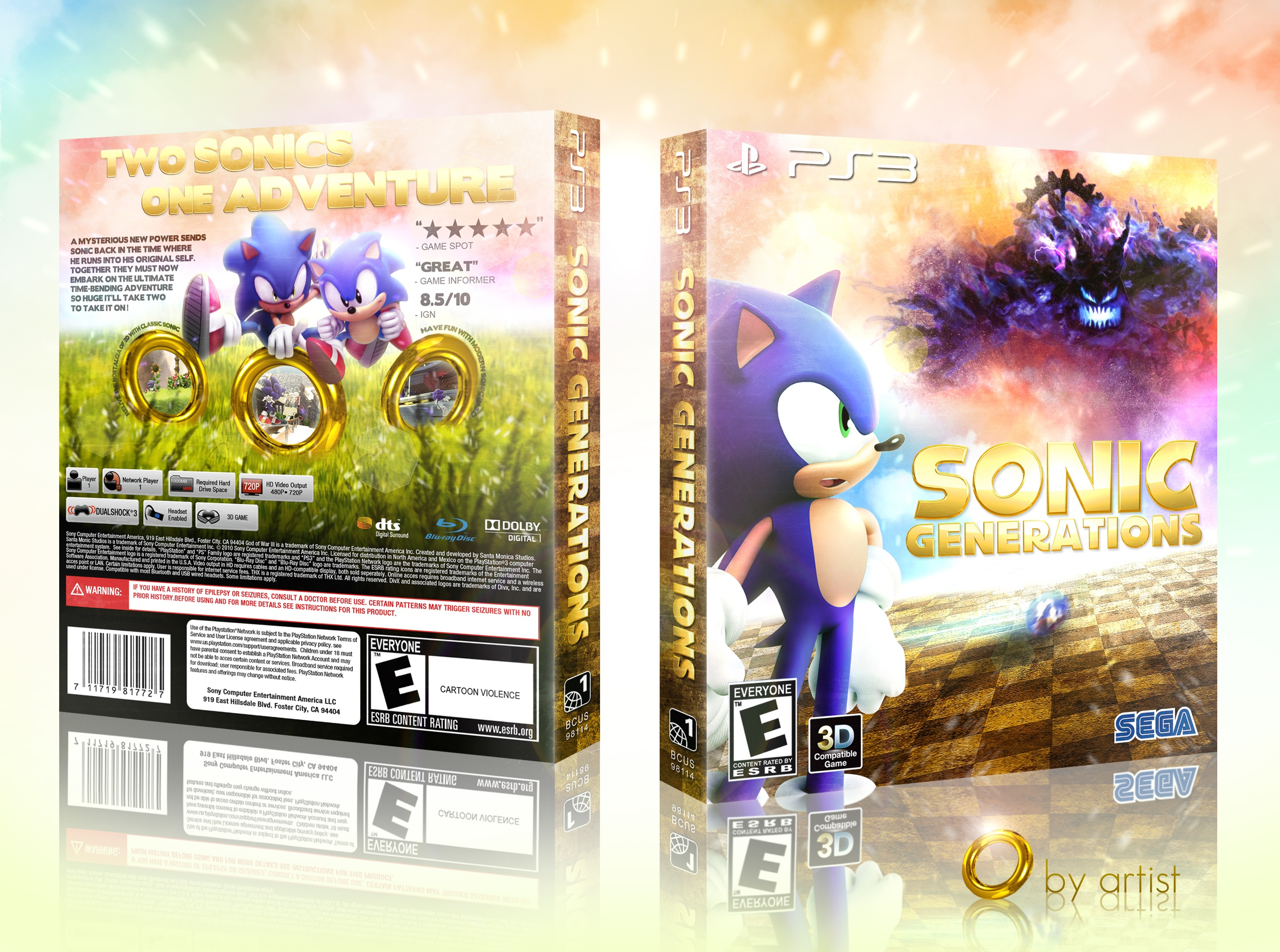 Sonic Generations box cover