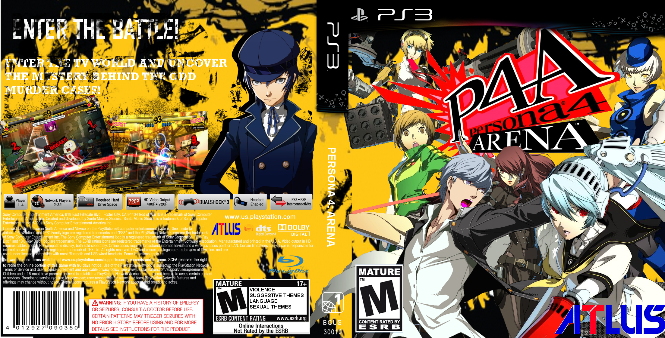 Persona 4 Arena box cover