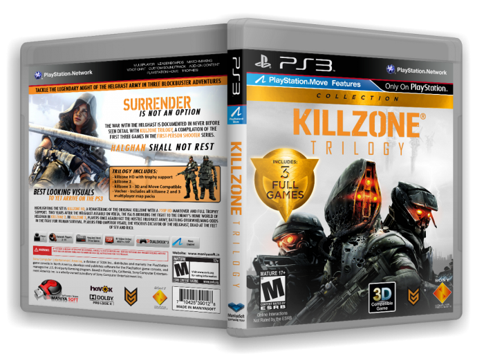 Killzone Trilogy box art cover
