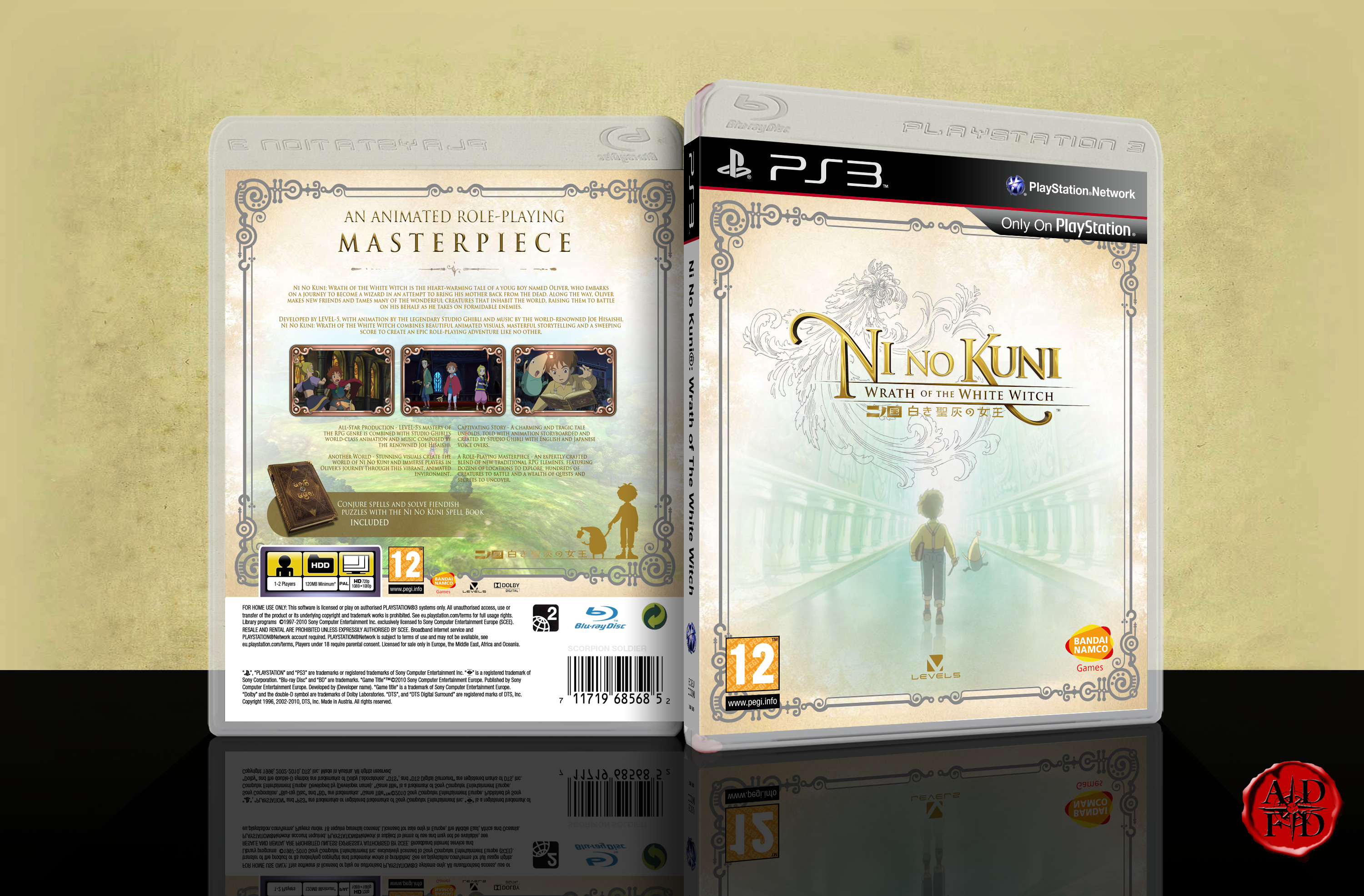 Ni No Kuni: Wrath of The White Witch box cover